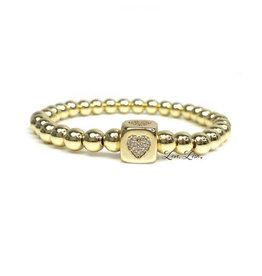 BEAUTIFUL TRENDING HEART BRACELET GOLD