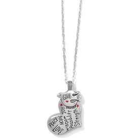BRIGHTON JM3923 GIVE LOVE PEACE NECKLACE