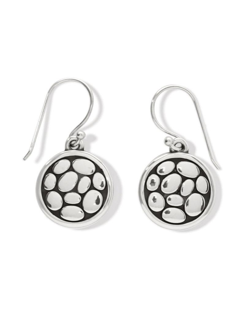 BRIGHTON JA7310 Pebble Round Reversible French Wire Earrings