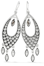 BRIGHTON JA7481 Pebble Disc Marquise Statement French Wire Earrings