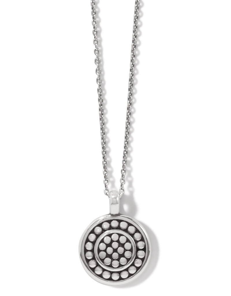 BRIGHTON JM3980 Pebble Round Reversible Petite Necklace