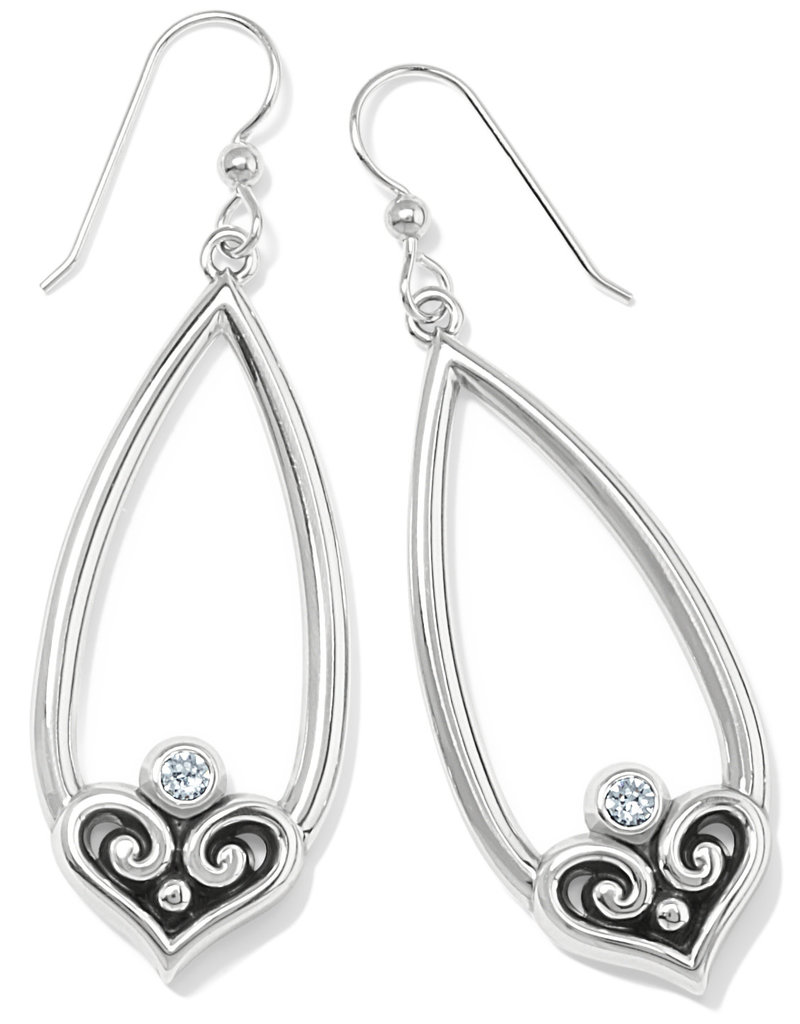 BRIGHTON JA7351 Alcazar Heart Teardrop French Wire Earrings