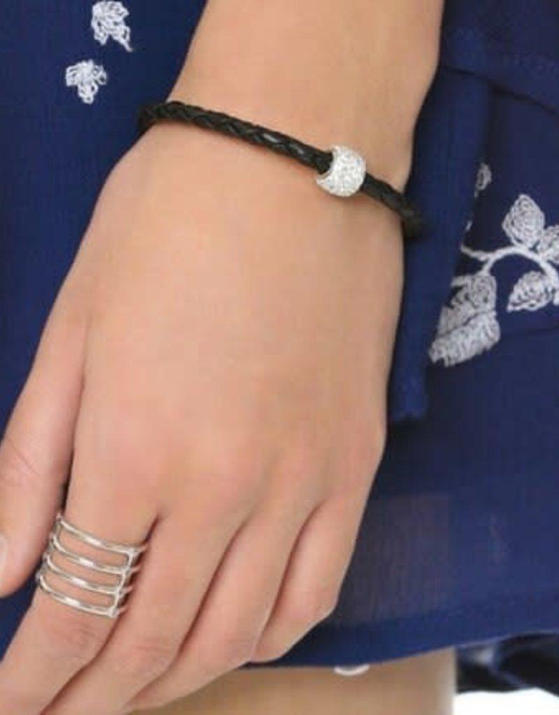BSGBEBL: Single Bedazzle Bracelet: Black