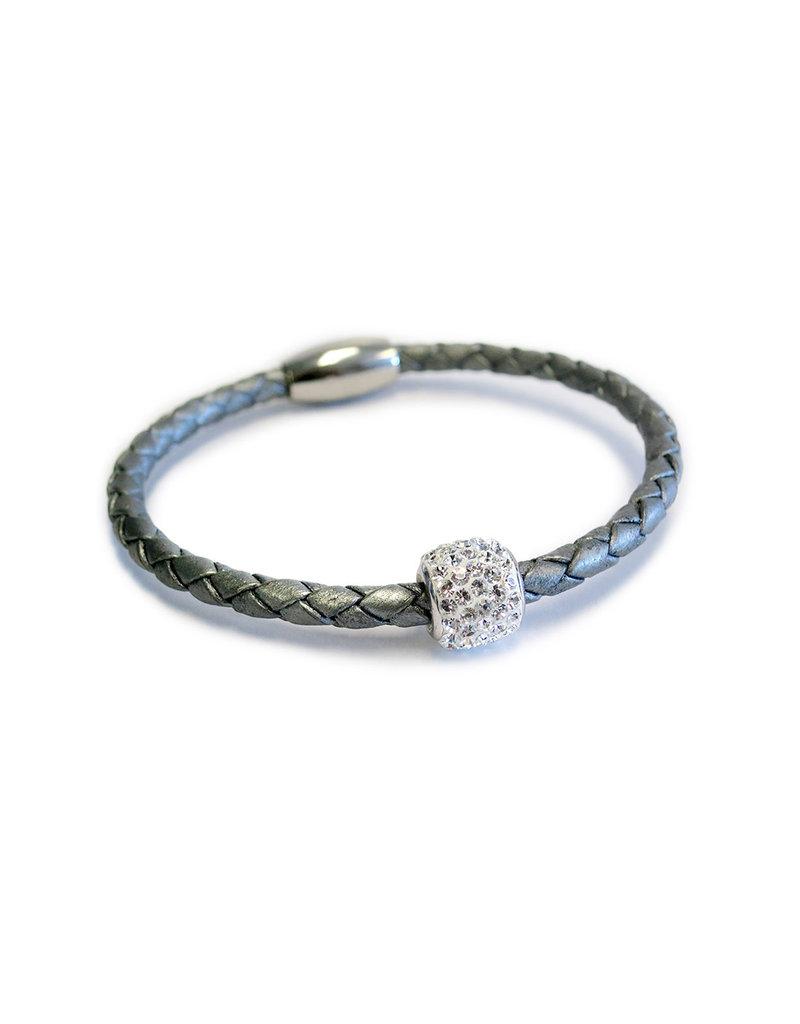 BSGBESI: Single Bedazzle Bracelet: Silver