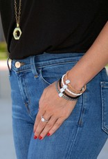 BSGBEWH: Single Bedazzle Bracelet: White