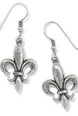 BRIGHTON JA7320 Ferrara Fleur De Lis French Wire Earrings