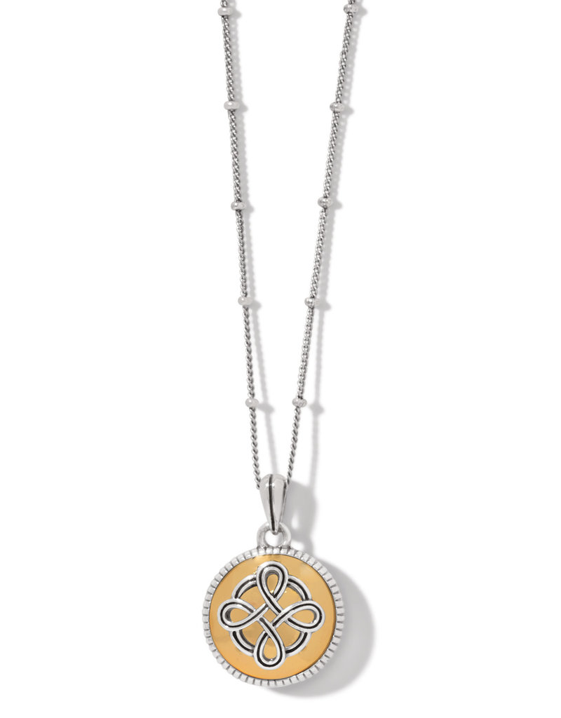 BRIGHTON JM3903 Interlok Noir Reversible Necklace