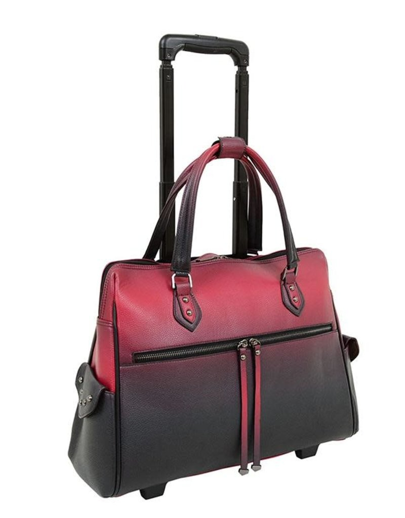 HB19302 BURGUNDY CARRY ON LAPTOP CARRIER