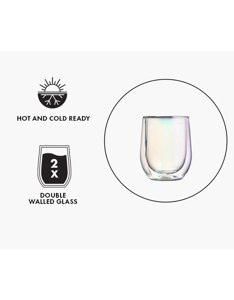 CORKCICLE 7401C GLASS STEMLESS- DOUBLE PACK - CLEAR