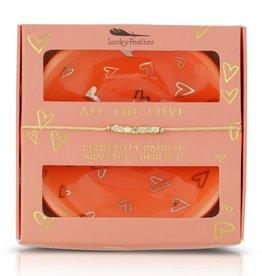 All the Love - Bracelet + Dish Set