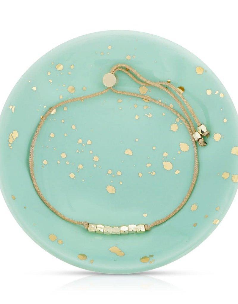 LUCKY FEATHER Splash of Good Vibes - Bracelet + Dish Set