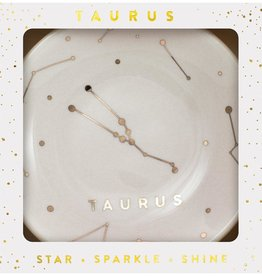 LUCKY FEATHER ZODIAC DISH - TAURUS (APR 20 - MAY 20)