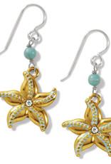 BRIGHTON JA7433 Paradise Cove Starfish French Wire Earrings
