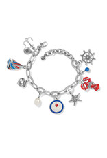 BRIGHTON JF8413 ANCHOR BAY CHARM BRACELET