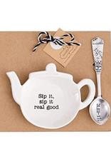 MUD PIE 42600444G SIP IT REAL GOOD TEA BAG SET