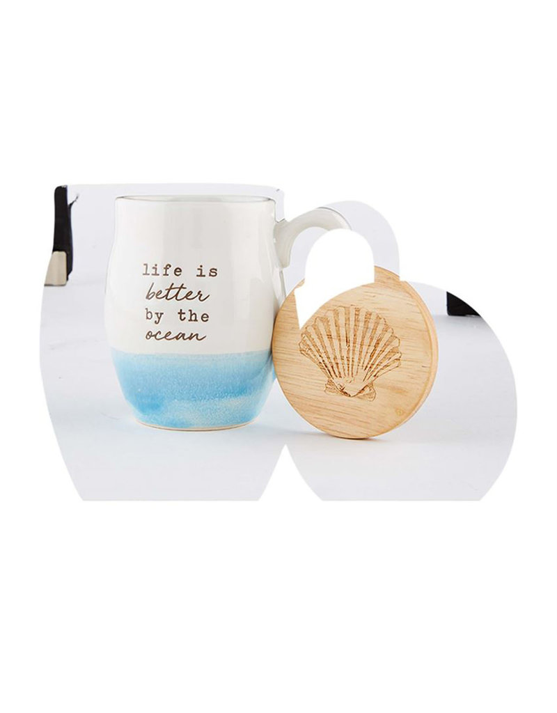 MUD PIE 43500101L LIFE BEACH MUG SET