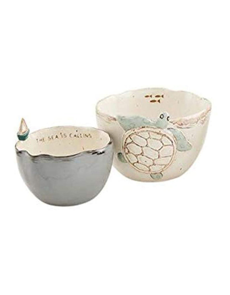 MUD PIE 48500160T TURTLE ICON NESTED DIP CUP SET