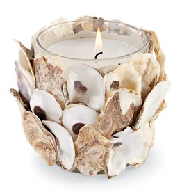 MUD PIE 49800141 OYSTER SHELL FILLED CANDLE