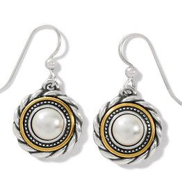BRIGHTON JA7283 Meridian Golden Pearl French Wire Earrings