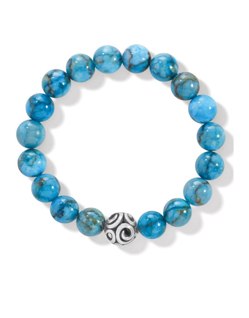 BRIGHTON JF834A Contempo Chroma Turquoise Stretch Bracelet