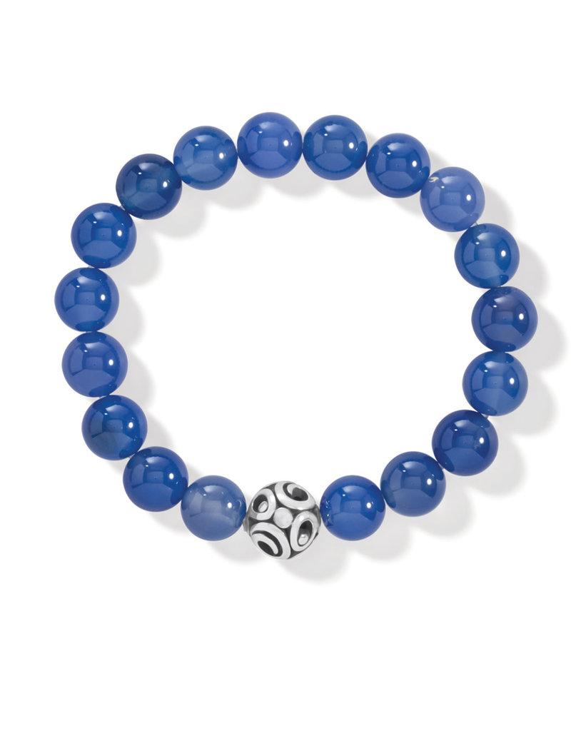 BRIGHTON JF834D Contempo Chroma Blue Agate Stretch Bracelet