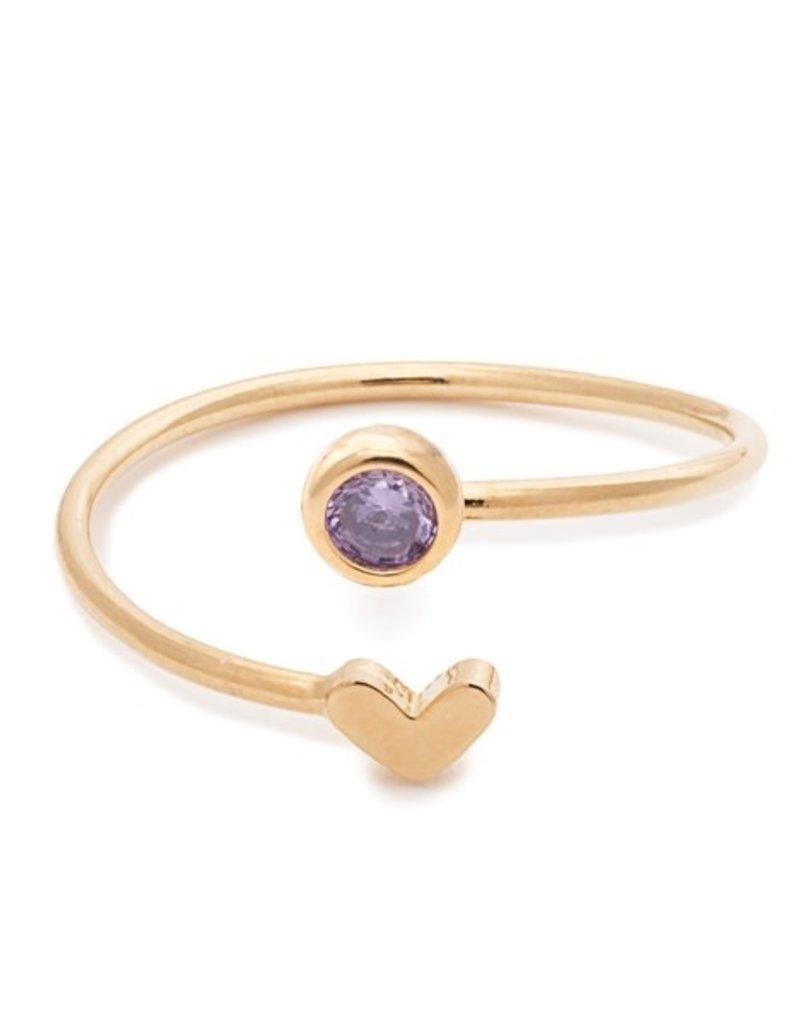 32178 gold heart amethyst birthstone ring - February