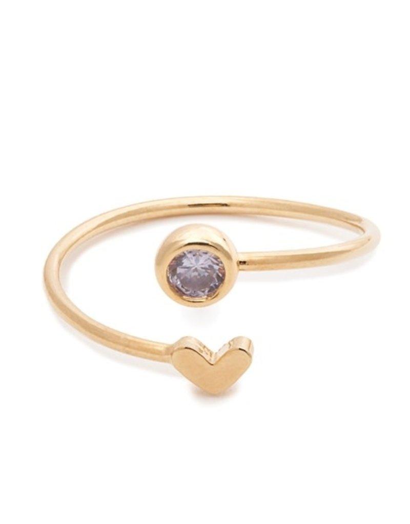 32182 gold heart light amethyst birthstone ring - June