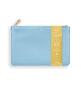 KATIE LOXTON KLB1382 BIRTHSTONE PERFECT POUCH | MARCH AQUA CRYSTAL | BLUE