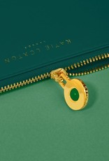 KATIE LOXTON KLB1384 BIRTHSTONE PERFECT POUCH | MAY GREEN AGATE | DARK GREEN
