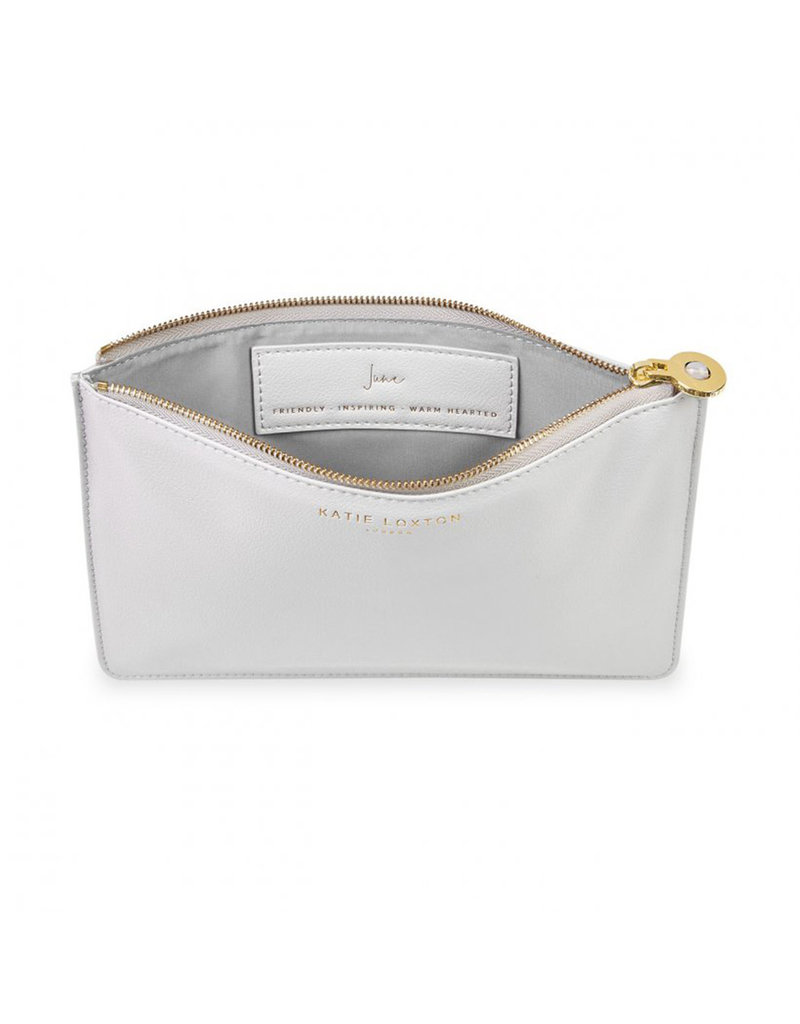 KATIE LOXTON KLB1385 BIRTHSTONE PERFECT POUCH | JUNE MOONSTONE | PALE GRAY