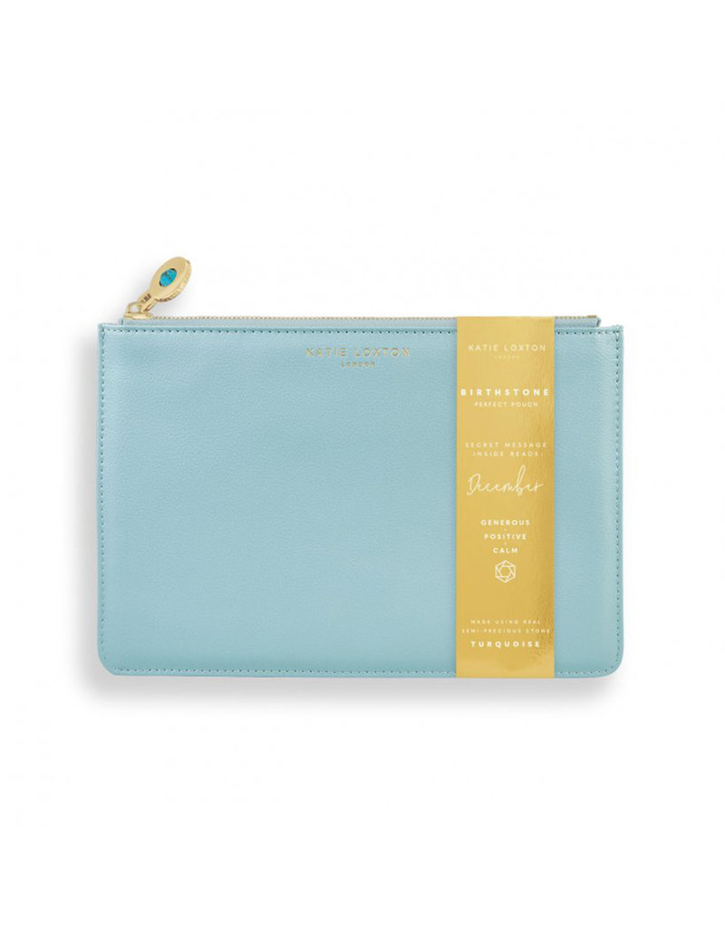 KATIE LOXTON KLB1391 BIRTHSTONE PERFECT POUCH | DECEMBER TURQUOISE | DUCK EGG BLUE