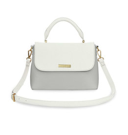 KATIE LOXTON KLB885 TALIA TWO TONE MESSENGER BAG | WHITE AND PALE GREY