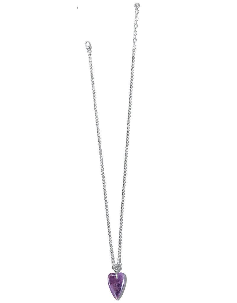 BRIGHTON JM462A Toledo With Love Amethyst Necklace