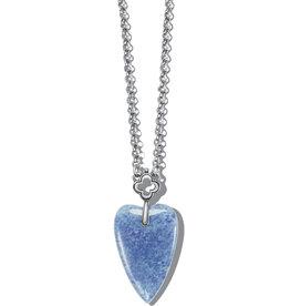 BRIGHTON JM462D Toledo With Love Blue Quartz Necklace