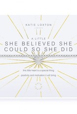 KATIE LOXTON KLJ3097 A LITTLE SHE BELIEVED SHE COULD SO SHE DID BRACELET
