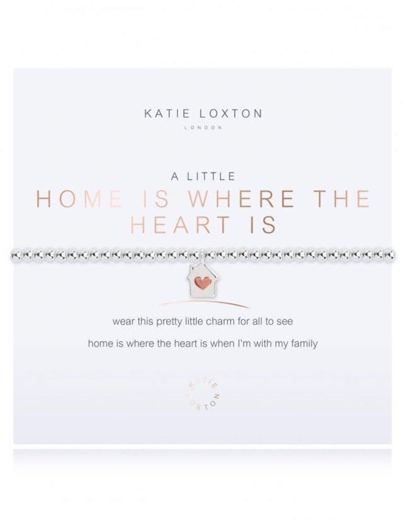 KATIE LOXTON KLJ3206 A LITTLE HOME IS WHERE THE HEART IS BRACELET