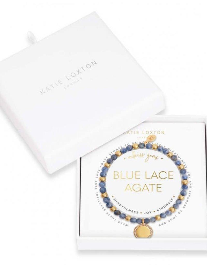 KATIE LOXTON KLJ3856 WELLNESS GEMS | BLUE LACE AGATE BRACELET