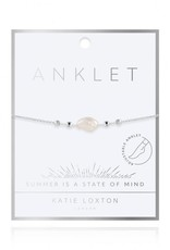 KATIE LOXTON KLJ4241 SILVER PEARL ANKLET
