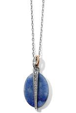 BRIGHTON JM194B Neptune's Rings Oval Brazil Blue Quartz Reversible Short Necklace