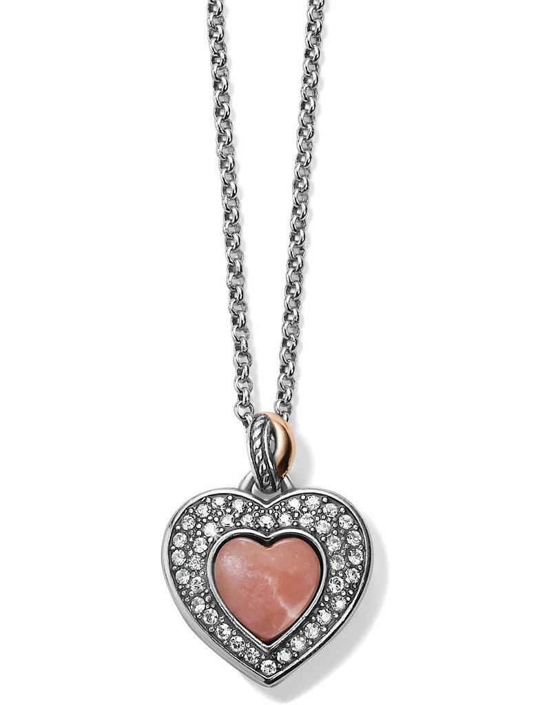 BRIGHTON JM248D Neptune's Rings Opal Heart Reversible Necklace