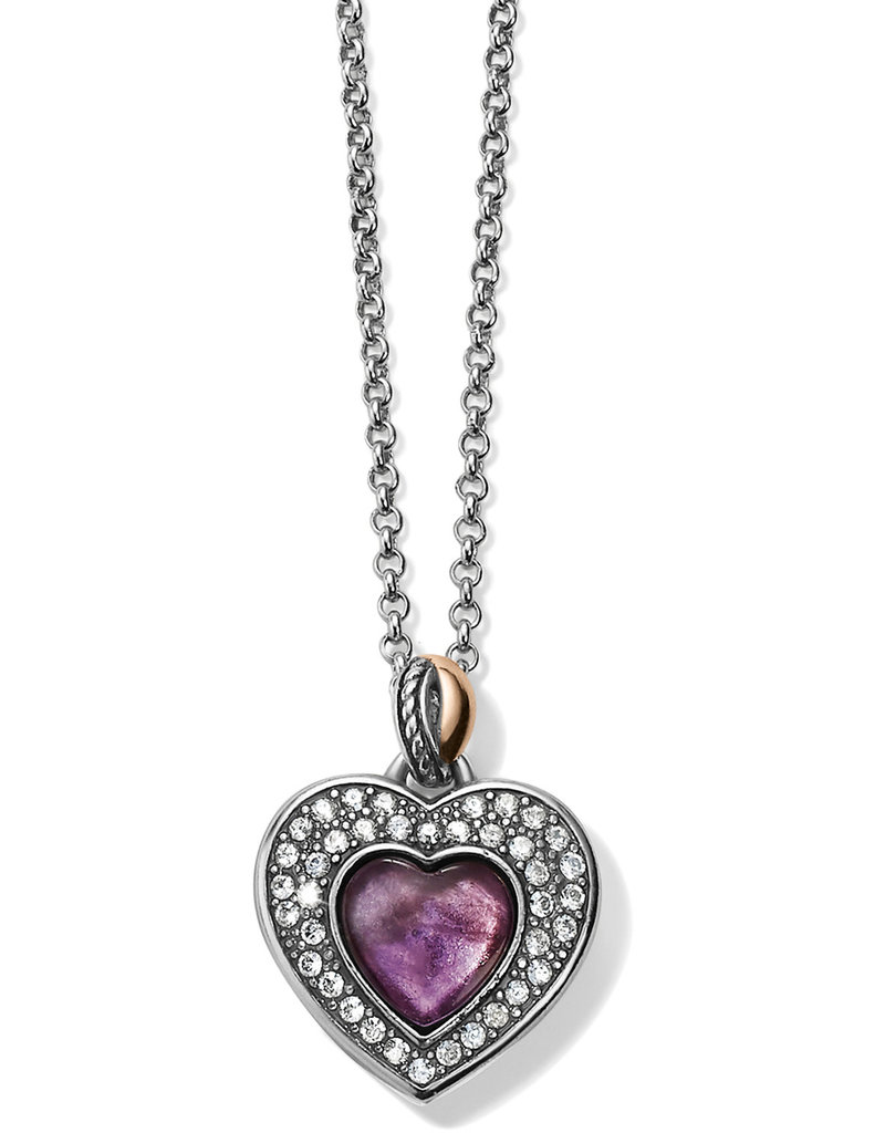 BRIGHTON JM248B Neptune's Rings Amethyst Heart Reversible Necklace
