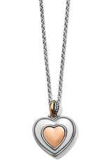 BRIGHTON JM248B Neptune's Rings Amethyst Heart Reversible Necklace