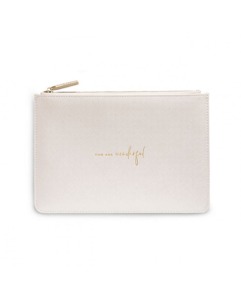 KATIE LOXTON KLB1067 Color Pop Perfect Pouch | You Are Wondeful | Metallic White