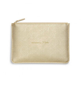 KATIE LOXTON KLB1070 Perfect Pouch | Wonderful Mom | Metallic Gold