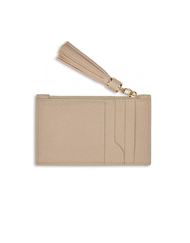 KATIE LOXTON KLB1025 Tassel Card Holder   Taupe