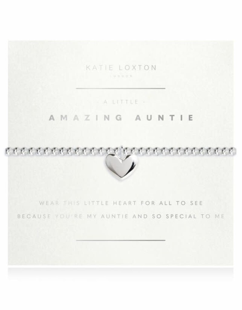 KATIE LOXTON KLJ3191 a little Amazing Auntie Faceted Bracelet