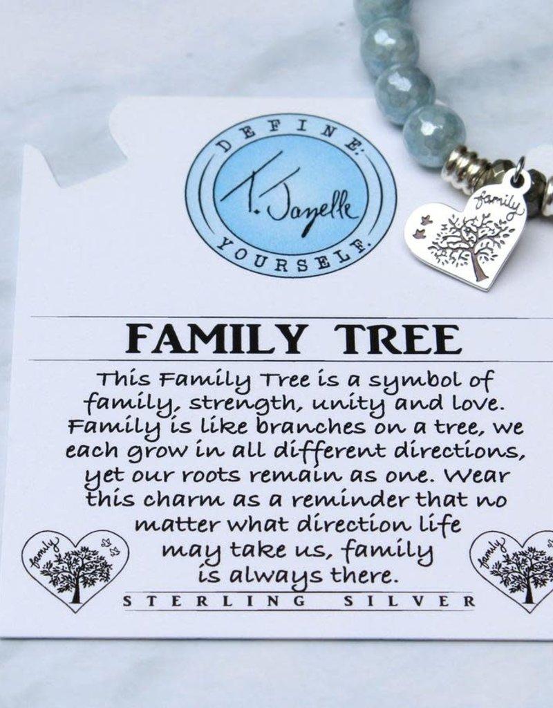 T JAZELLE BLUE QUARTZITE - FAMILY TREE