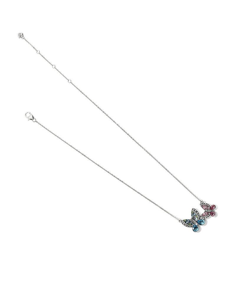 BRIGHTON JM3103 Trust Your Journey Love Butterflies Reversible Necklace