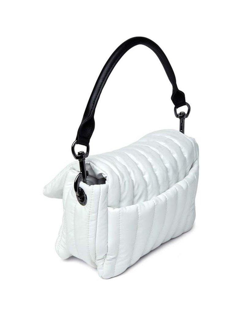 THINK ROYLN BAR BAG-WHITE PATENT