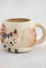 NATURAL LIFE MUG378 Folk Mug Sleeping Cat